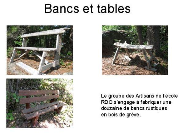 Bancs et tables